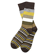 Buy Barbour Heywood Stripe Socks, One Size, Olive/Green Online at johnlewis.com