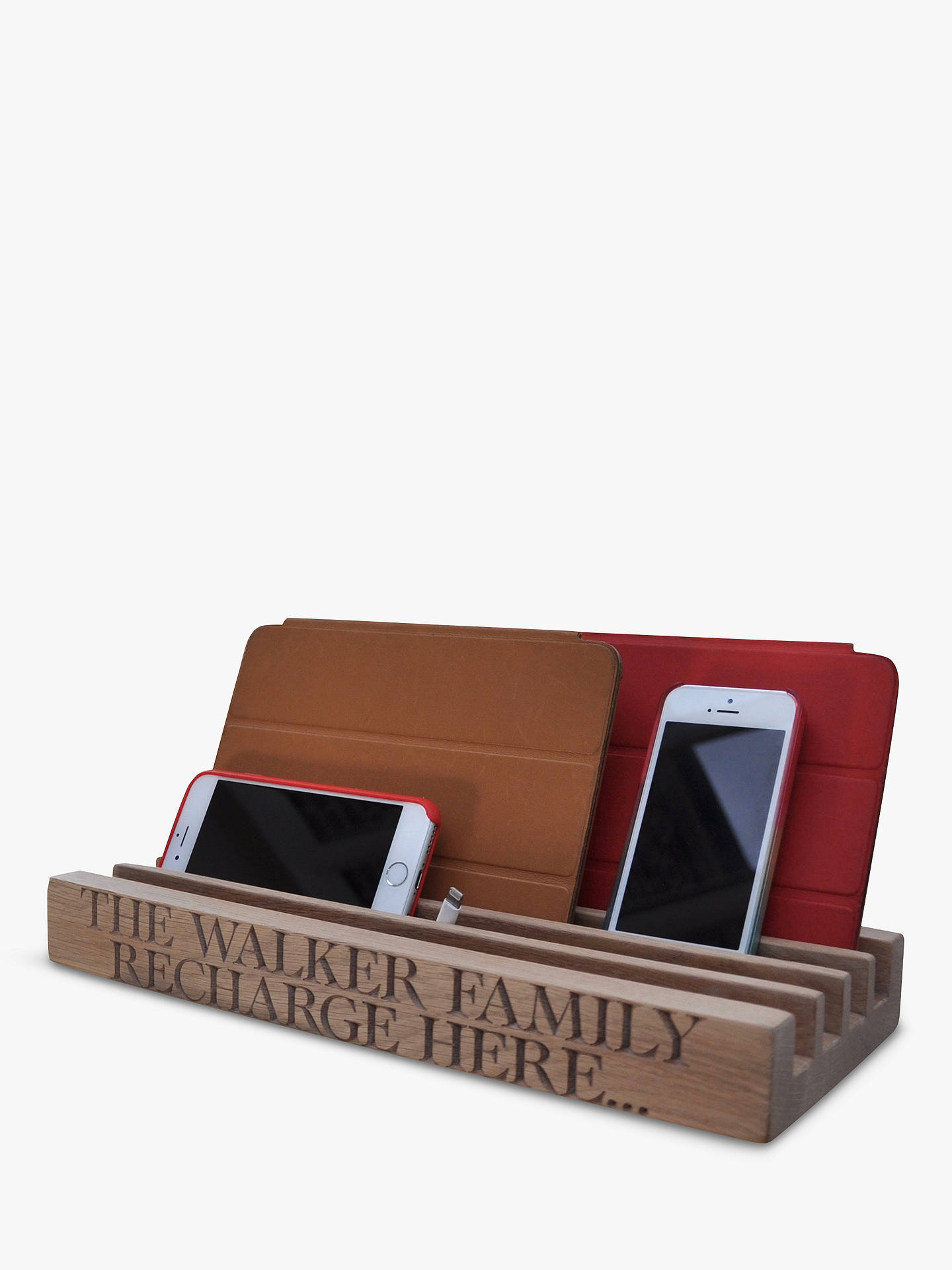 cbe55c1b637c Buy The Oak And Rope Company Personalised Family Charging Station Online at  johnlewis.com