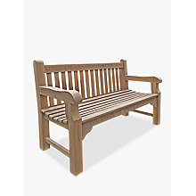 Buy The Oak And Rope Company Personalised 3-Seater Parkland Bench, Oak Online at johnlewis.com