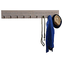 Buy The Oak And Rope Company Personalised Peg Rail Online at johnlewis.com