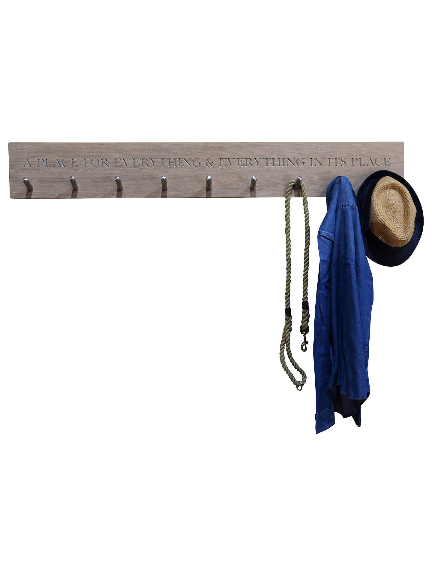 BuyThe Oak And Rope Company Personalised 2 Peg Rail Online at johnlewis.com