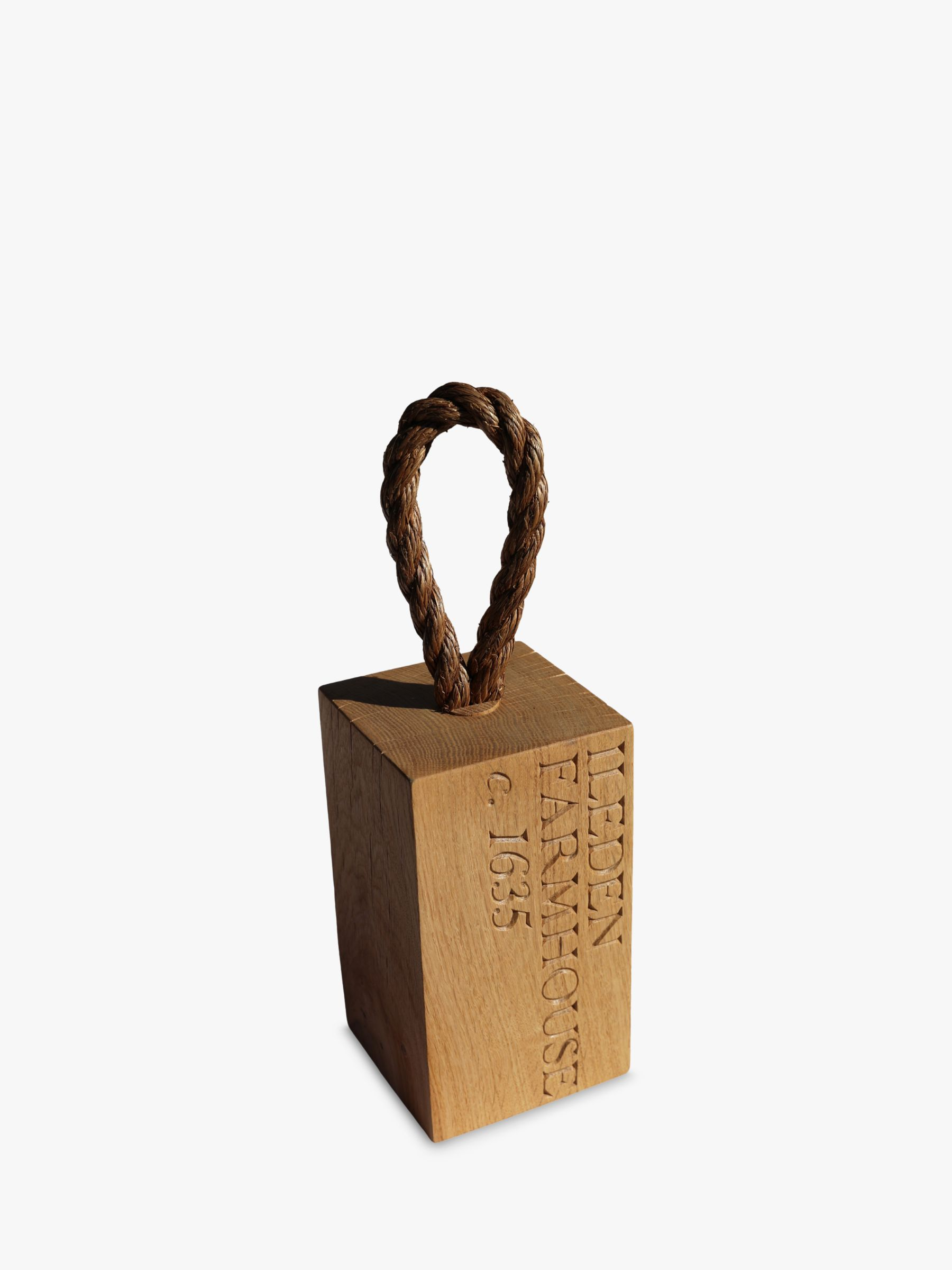 ac0be6db240a The Oak And Rope Company Personalised Oak Door Stop at John Lewis   Partners