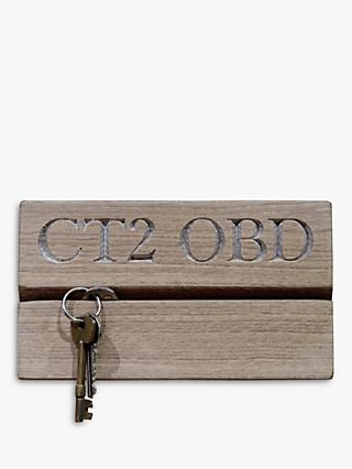 The Oak And Rope Company Personalised Postcode Key Organiser