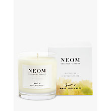 Buy Neom Organics London Happiness Standard Candle Online at johnlewis.com