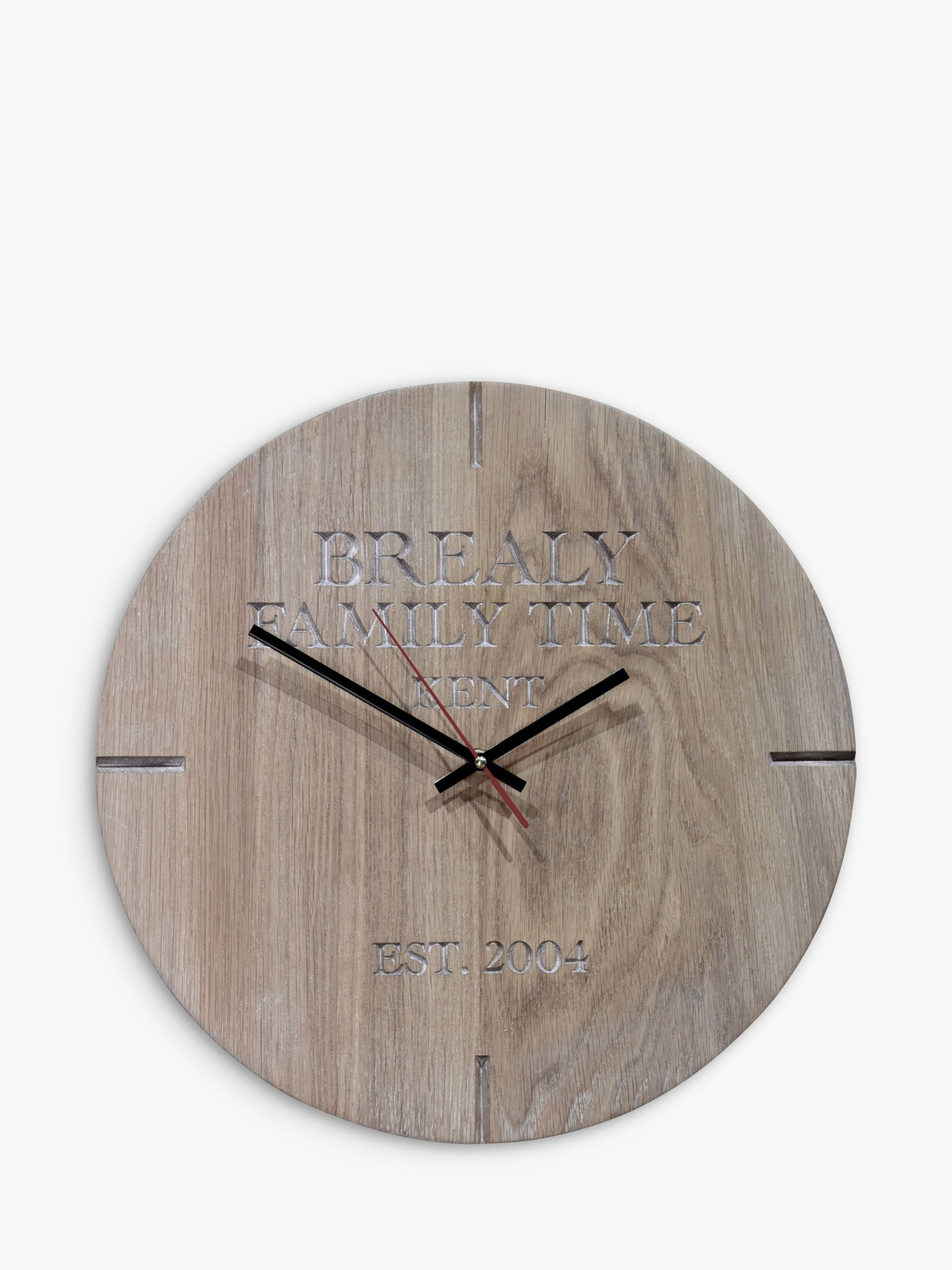 85d8579bd88f The Oak And Rope Company Personalised Oak Clock