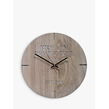 Buy The Oak And Rope Company Personalised Oak Clock Online at johnlewis.com