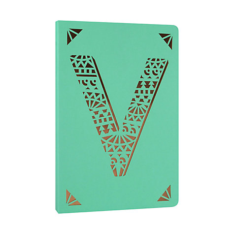 Buy Portico Monogrammed A6 Block Colour Notebook Online at johnlewis.com