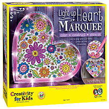 Buy Creativity for Kids Light Up Heart Marquee Kit Online at johnlewis.com