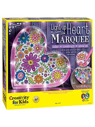 Creativity for Kids Light Up Heart Marquee Kit