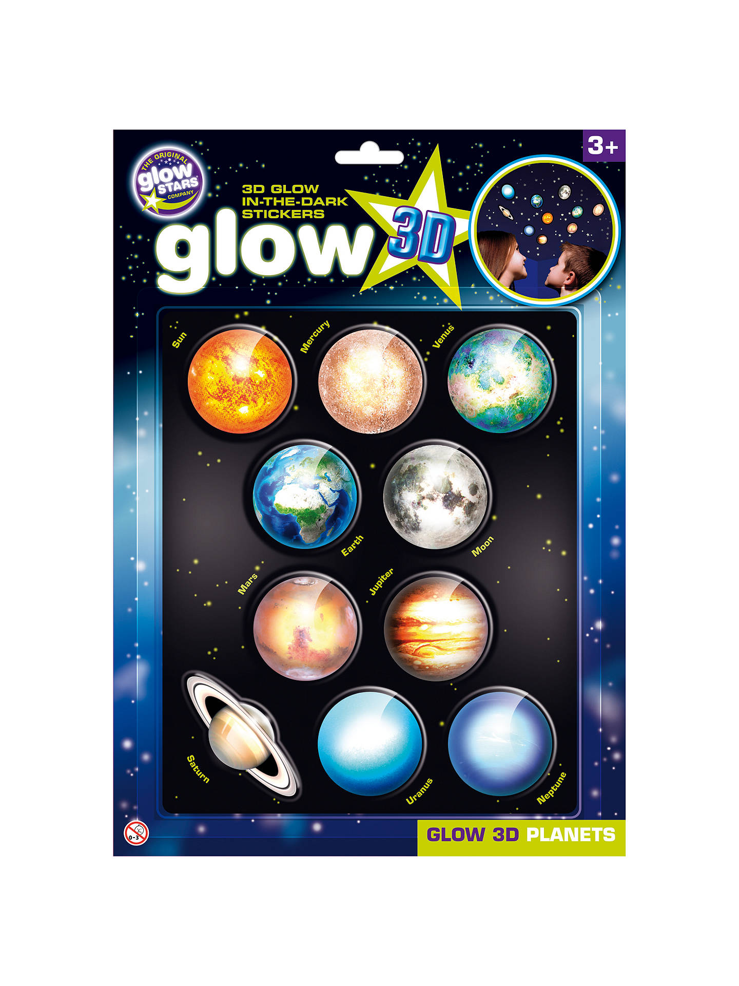 cosmic glow in the dark 3d planets set at john lewis partners
