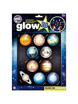 Cosmic Glow in the Dark 3D Planets Set