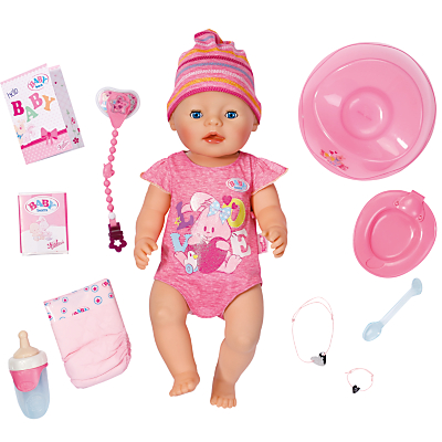 Zapf Baby Born Interactive Doll, Girl