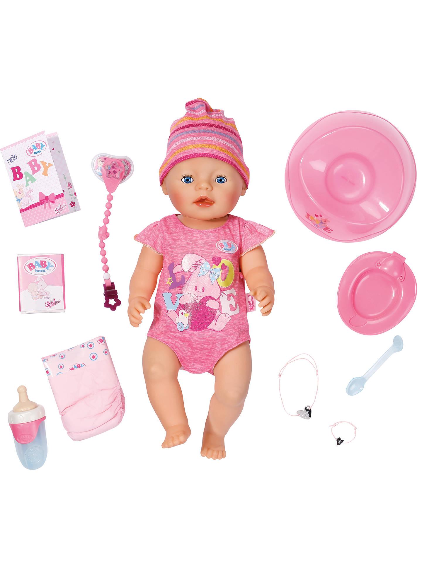 Zapf Baby Born Interactive Doll Girl At John Lewis Amp Partners