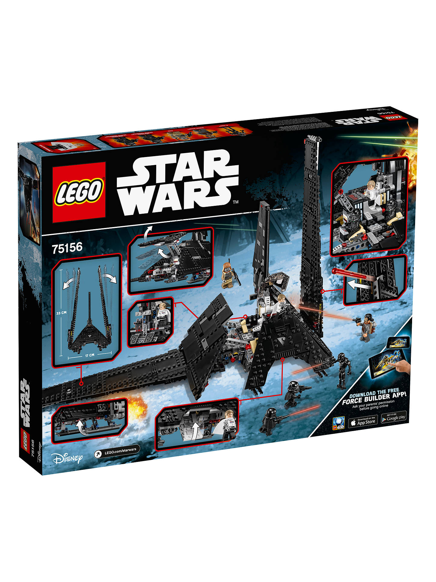 Lego Star Wars Rogue One 75156 Krennics Imperial Shuttle At John