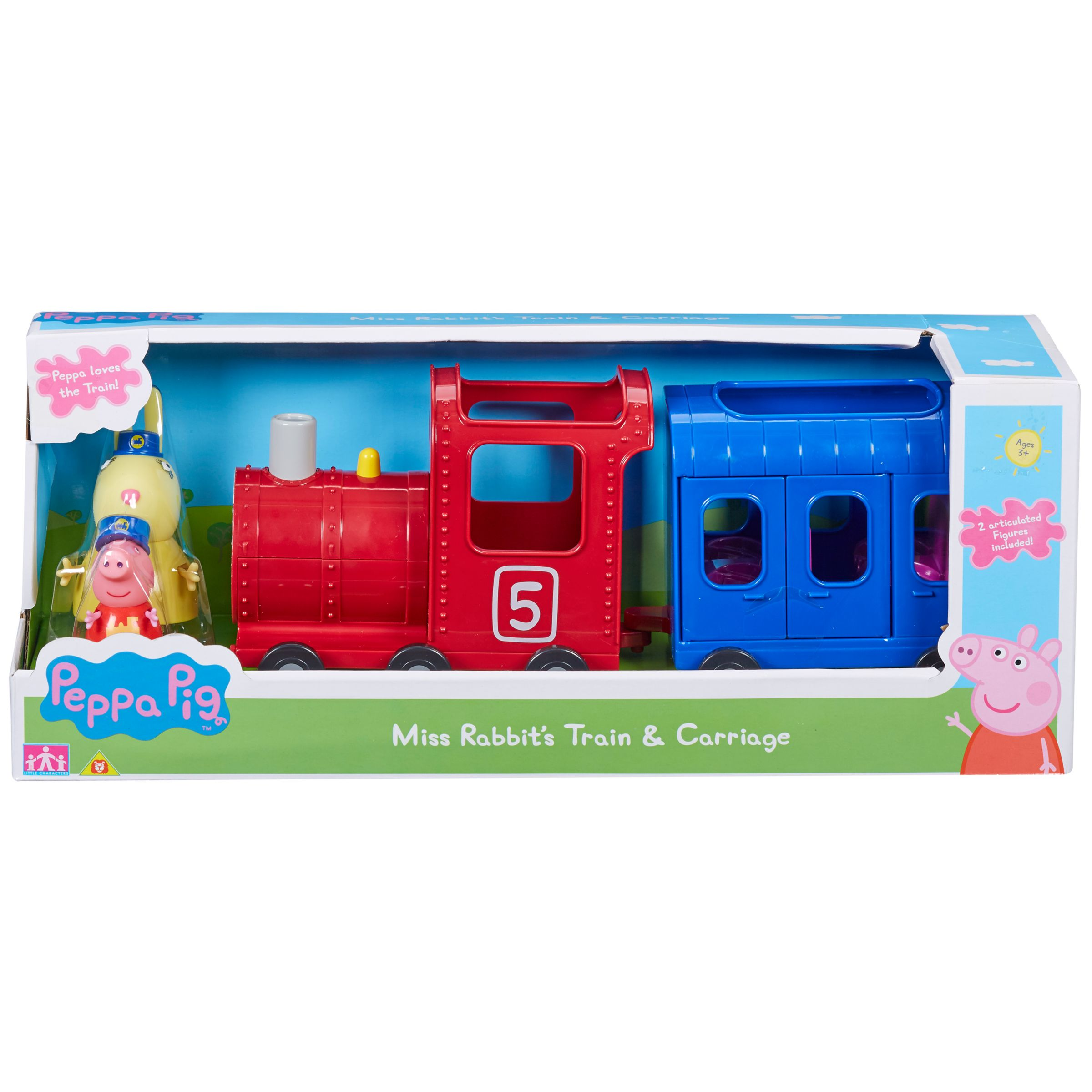 Peppa Pig Peppa Pig Miss Rabbit Train and Carriage