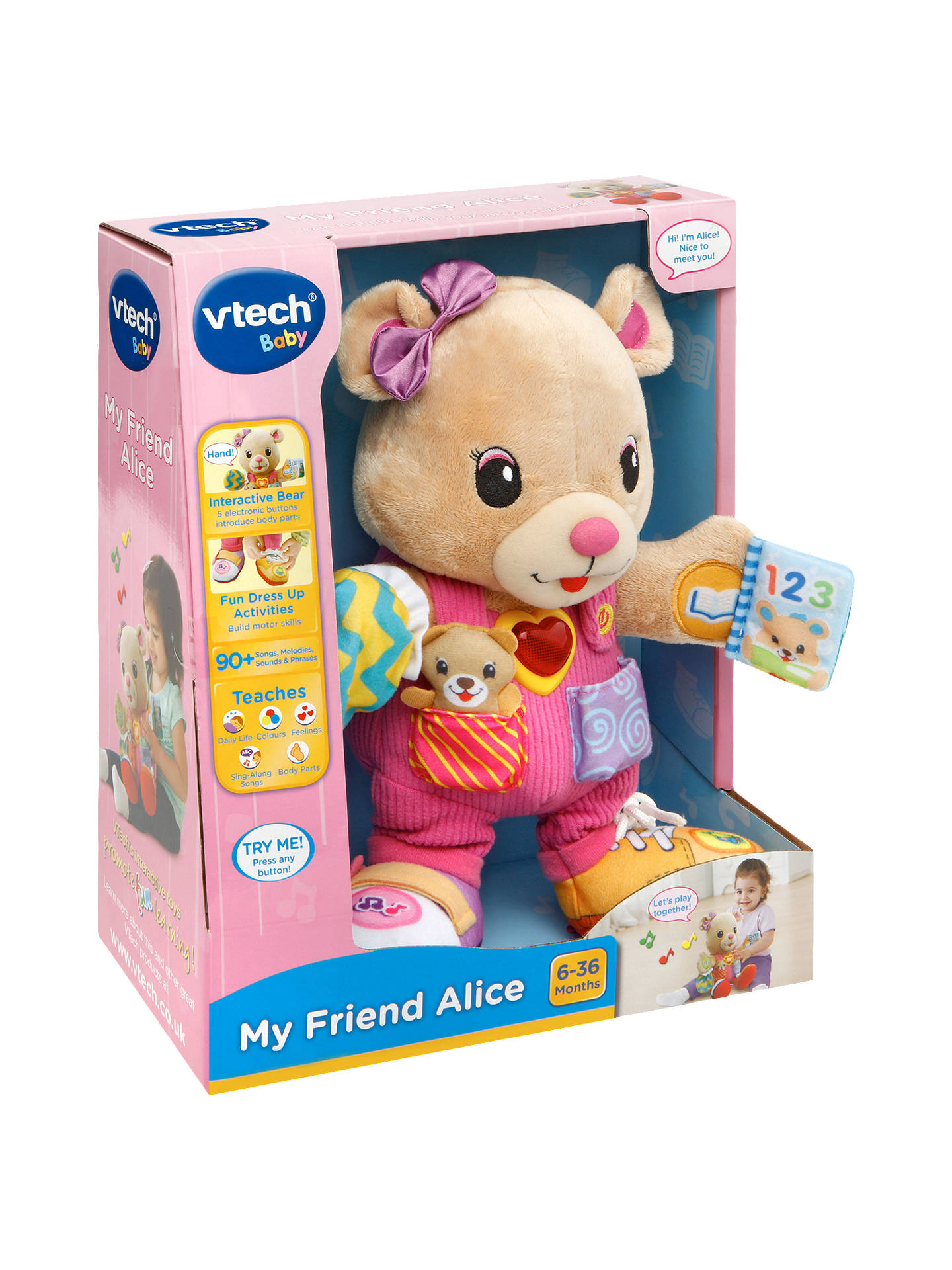 vtech baby  VTech Baby My Friend Alice Furry Toy at John Lewis & Partners