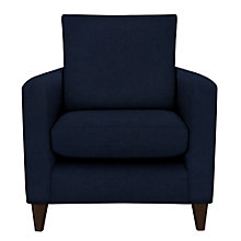 Buy John Lewis Bailey Armchair, Dark Wood Leg, Isabella Navy Online at johnlewis.com
