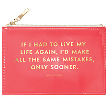 Buy kate spade new york Same Mistakes Pencil Pouch, Pink Online at johnlewis.com