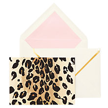 Buy kate spade new york Leopard Print Notecards, Pack of 10 Online at johnlewis.com