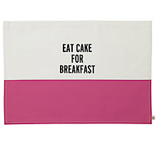 Buy kate spade new york Eat Cake For Breakfast Placemat Online at johnlewis.com