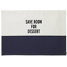 Buy kate spade new york Save Room For Dessert Placemat Online at johnlewis.com