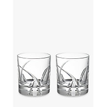 Buy John Lewis Grosseto Cut Crystal Glass Tumbler, Set of 2, Clear Online at johnlewis.com