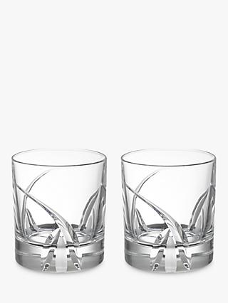 John Lewis & Partners Grosseto Cut Crystal Glass Tumblers, 290ml, Set of 2, Clear