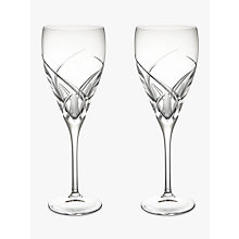 Buy John Lewis Grosseto Red Wine Cut Crystal Glasses, Set of 2, Clear Online at johnlewis.com