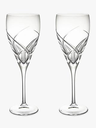 John Lewis & Partners Grosseto Cut Crystal Glass Red Wine Goblet, 320ml, Set of 2, Clear