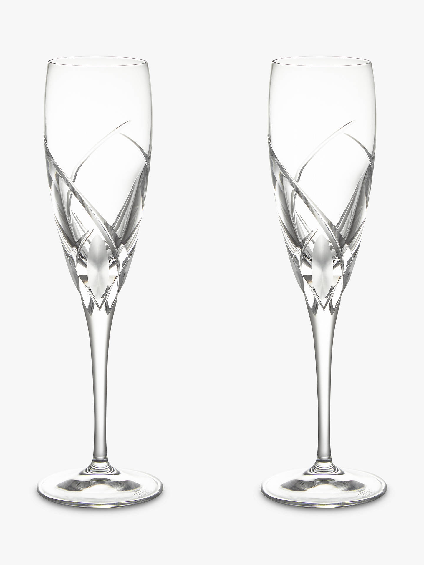 Buy John Lewis & Partners Grosseto Cut Crystal Glass Flute, Set of 2, Clear Online at johnlewis.com