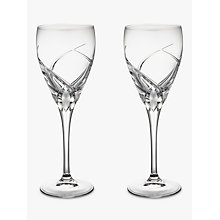 Buy John Lewis Grosseto White Wine Cut Crystal Glasses, Set of 2, Clear Online at johnlewis.com
