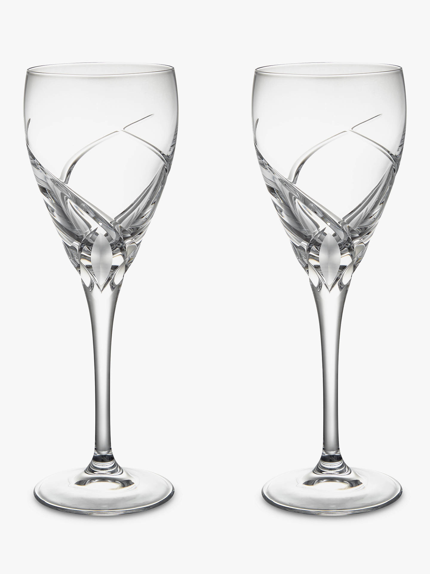 BuyJohn Lewis & Partners Grosseto White Wine Cut Crystal Glasses, Set of 2, Clear Online at johnlewis.com
