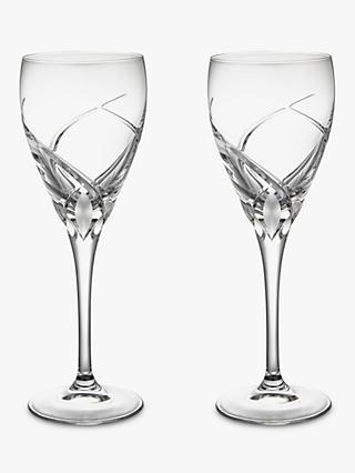 John Lewis & Partners Grosseto Cut Crystal Glass White Wine Glass, 250ml, Set of 2, Clear