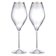 Buy John Lewis Croft Collection Swan Trailing Rose Wine Glass. Set of 2, Clear/Gold, 430ml Online at johnlewis.com