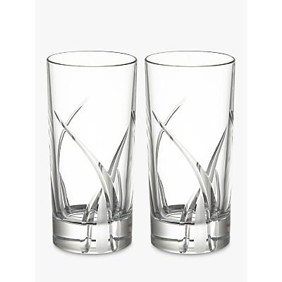 Image of John Lewis & Partners Grosseto Cut Crystal Glass Highballs, Clear, Set of 2