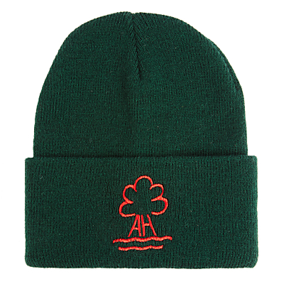 Ashbrooke School Beanie Hat, One Size, Green Bottle