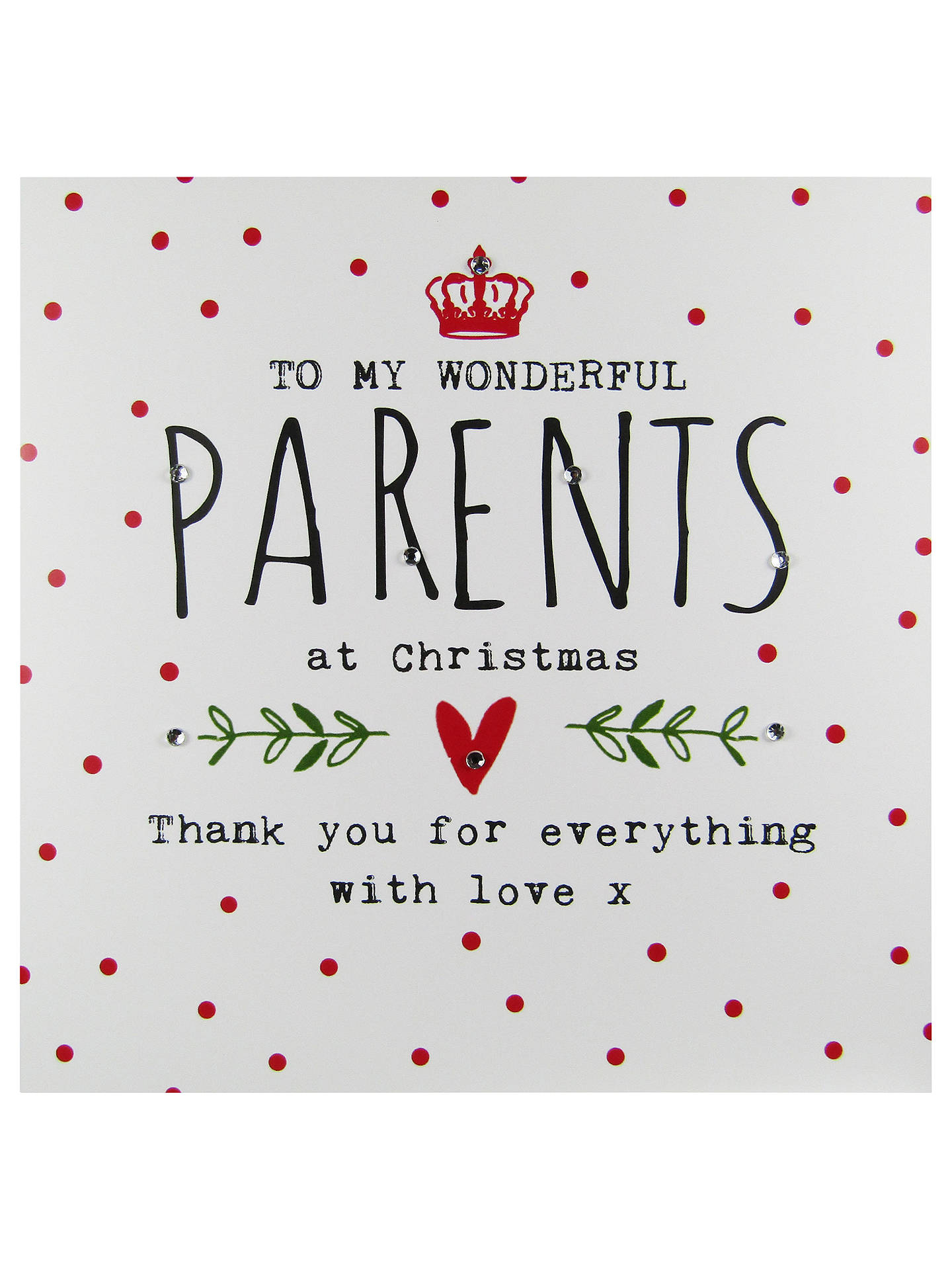 hammond gower parents words christmas card at john lewis