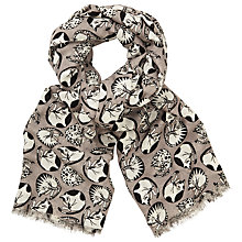 Buy John Lewis Napping Cats Print Scarf, Grey/Multi Online at johnlewis.com