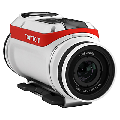 TomTom Bandit Action Camera, 4K Ultra HD, 16MP, Bluetooth, Wi-Fi With Waterproof Lens, Bike Pack