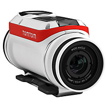 Buy TomTom Bandit Action Camera, 4K Ultra HD, 16MP, Bluetooth, Wi-Fi With Waterproof Lens, Bike Pack Online at johnlewis.com