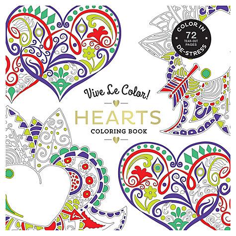 Buy Vive Le Color! Hearts Colouring Book | John Lewis