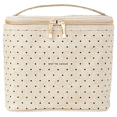 kate spade new york Polka Dot Lunch Tote, Cream and Black