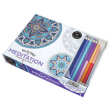 Buy Vive Le Color! Meditation Colouring Book And Pencils Online at johnlewis.com
