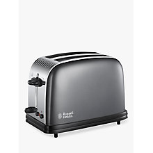 Buy Russell Hobbs Colours Plus 2-Slice Toaster, Black Online at johnlewis.com