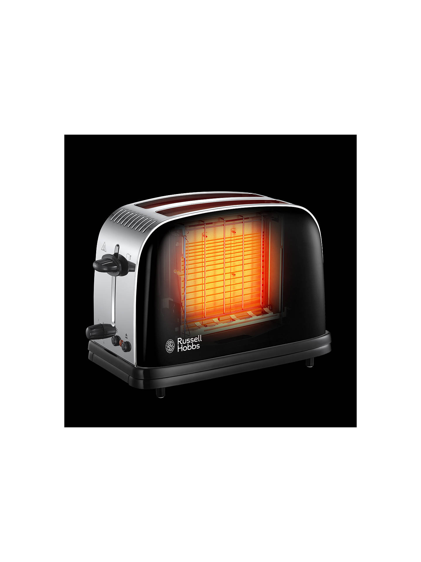 BuyRussell Hobbs Colours Plus 2-Slice Toaster, Black Online at johnlewis.com