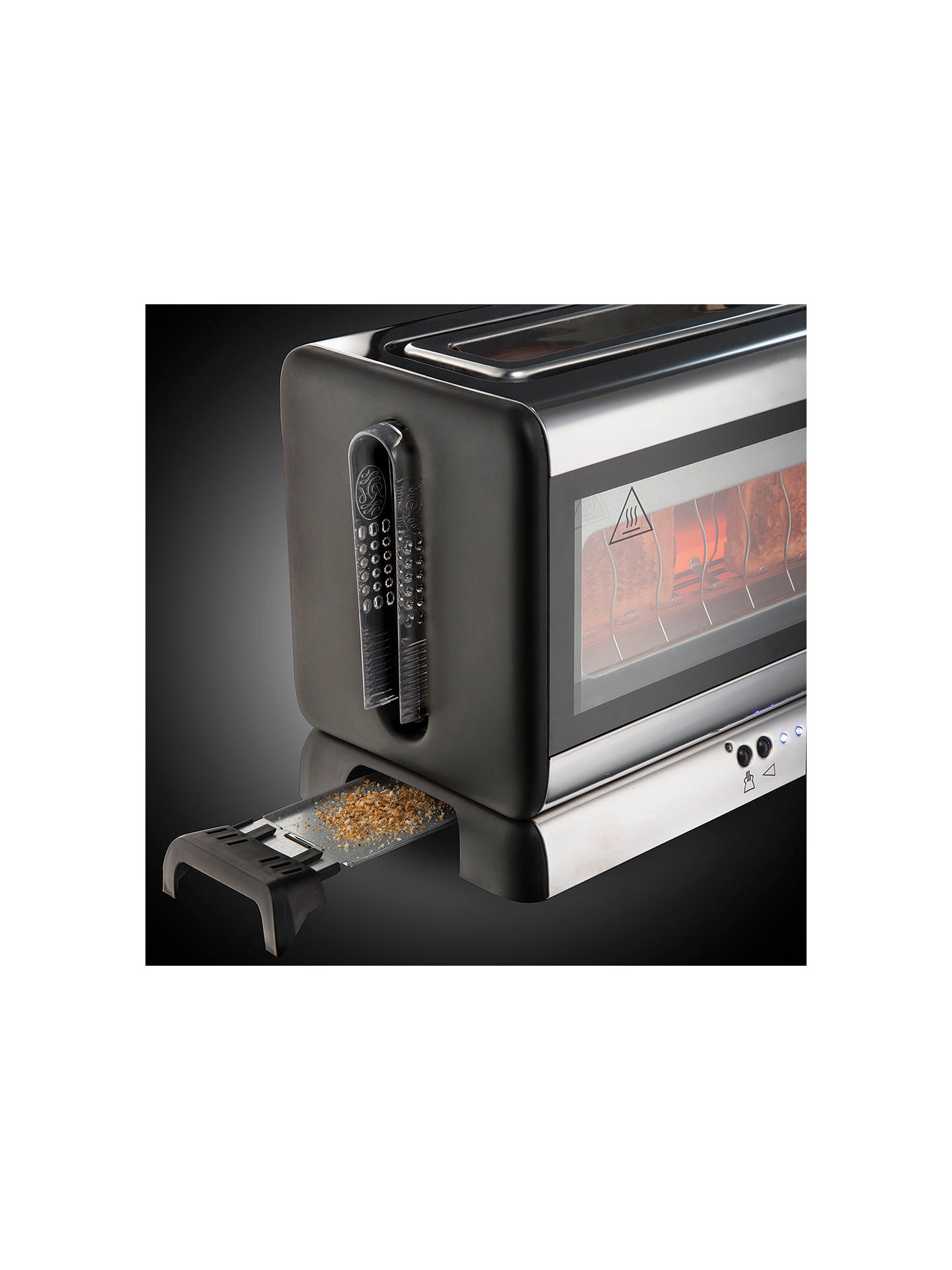 russell hobbs purity glass line toaster stainless steel at john lewis partners. Black Bedroom Furniture Sets. Home Design Ideas