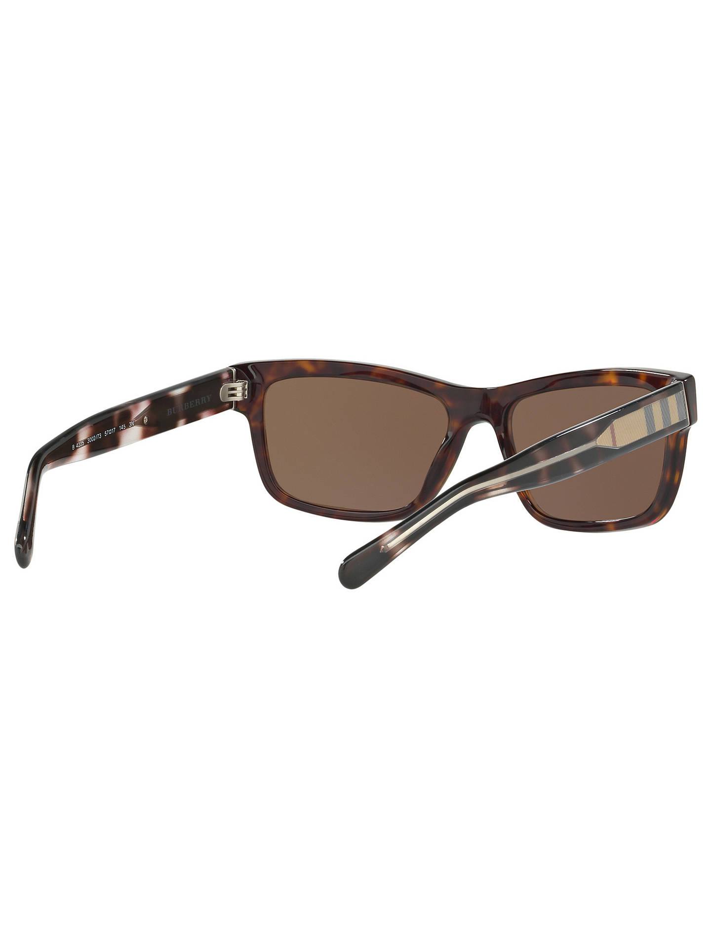 BuyBurberry BE4225 Rectangular Sunglasses, Tortoise Online at johnlewis.com
