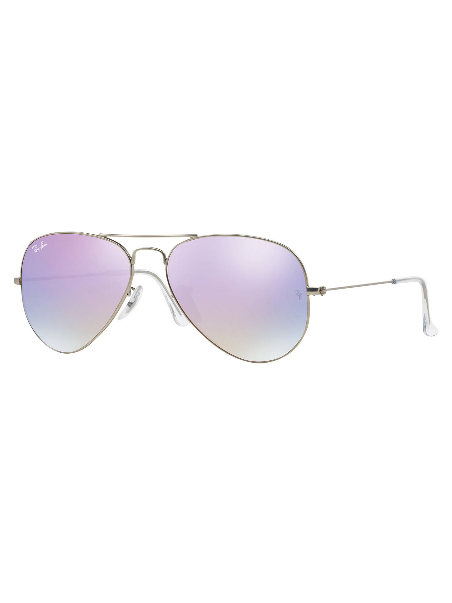 BuyRay-Ban RB3025 Iconic Aviator Sunglasses, Silver Lilac Online at  johnlewis.com ... f165d00229