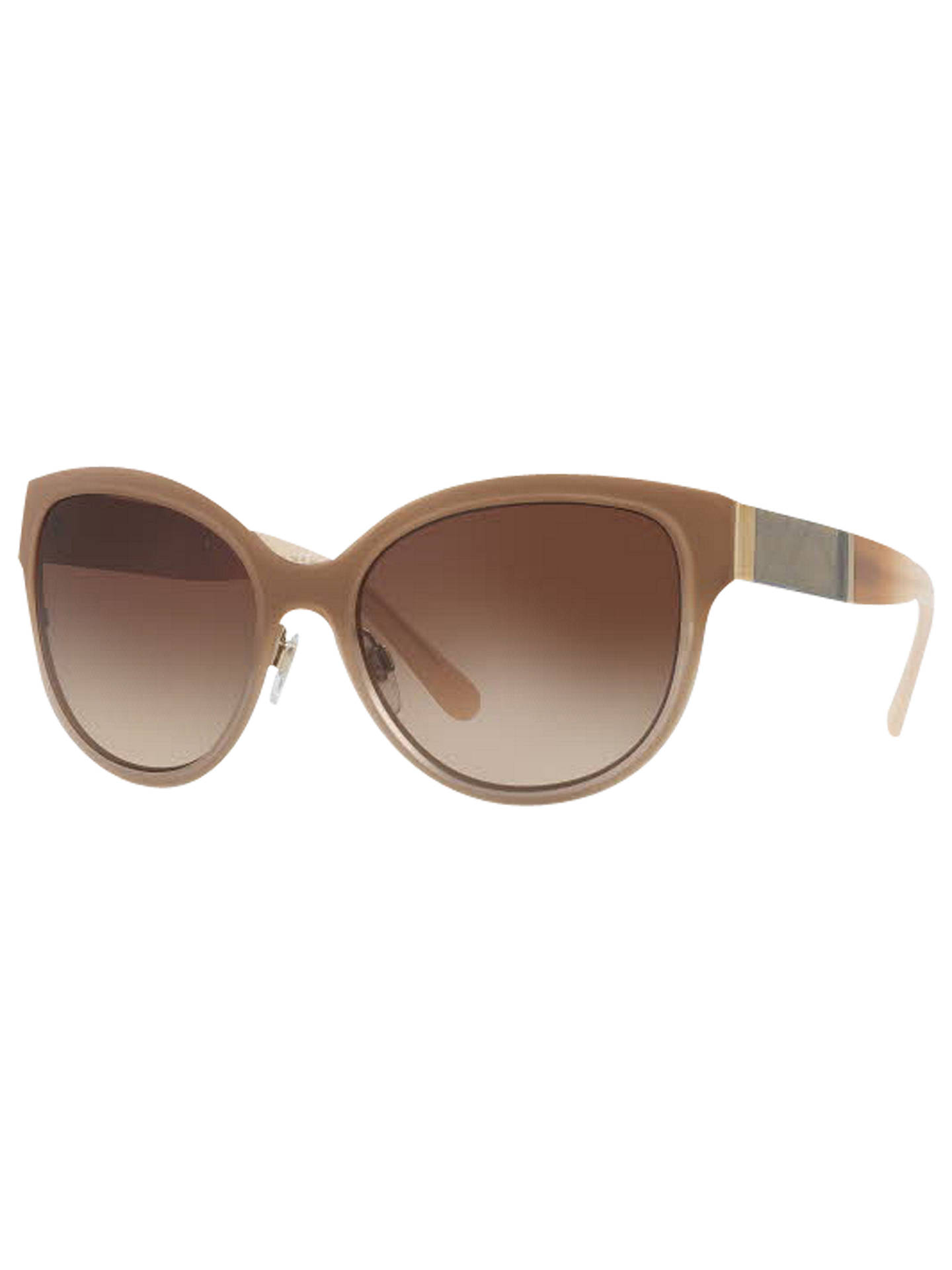 BuyBurberry BE3087 Oval Sunglasses, Camel/Gradient Brown Online at johnlewis.com