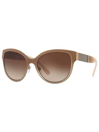 Burberry BE3087 Oval Sunglasses